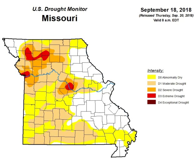 Missouri Drought Map September 20, 2018