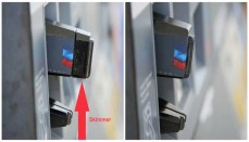 Credit Card Skimmer on gas pump