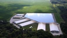 Smithfield Hog Farm with holding pond