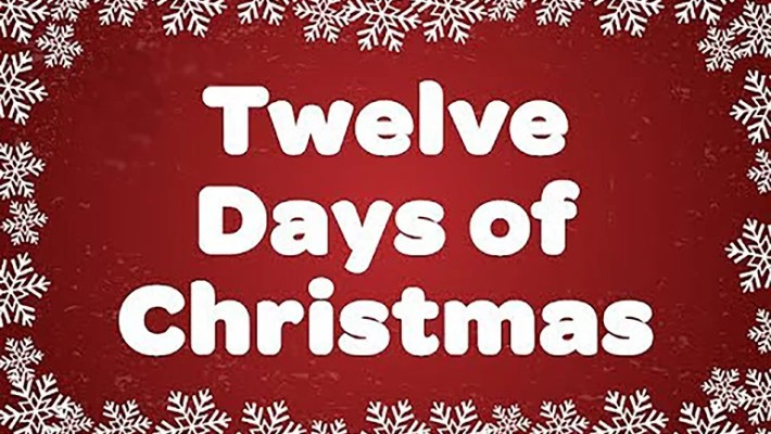 Twelve (12) Days of Christmas