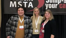 NCMC Teacher Education students (L to R) Cole Little, Chasidy Finney, and Nesa Leeper recently attended the Student Missouri State Teachers Association leadership meeting in Columbia, Missouri.