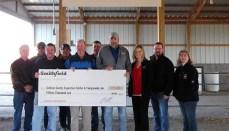 Smithfield Foods donates $15,000 to the Sullivan County Exposition Center & Fairgrounds to build amphitheater