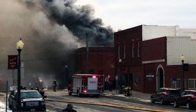 Chillicothe Fire Department responds to blaze in downtown Trenton