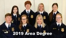 Chillicothe Area II FFA Degree Recipiets 2019
