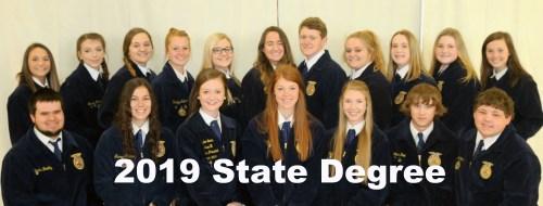 Chillicothe FFA State Degree Recipients 2019