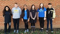 Mari Atup, a freshman on flute; Caleb Johnson, a freshman, on tuba; Trager Leeper, also a freshman, on trumpet; Mackenzie Klinginsmith, a junior, with a clarinet solo; Amanda Parrack, a sophomore, on the tenor sax; and Nicole Rodriguez, a senior, with a tuba solo