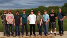 Members of the NCMC Shooting Sports who participated in the May 1 competition were, from left to right: Wyatt Adams, Seth McMullin, Tyson McCrary, Zach Carr, TJ Hudlemeyer, Jamee Scearce, Stetson Klise, Ethan Hayes, and Tyler Tipton.