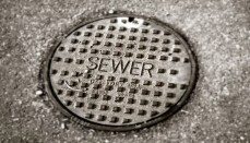 Sewer Line Cap in Street