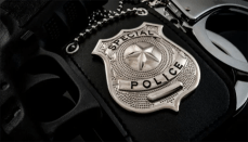 Special Police on a law enforcement badge