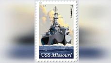 USS Missouri Forever Postage Stamp
