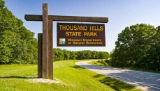 Thousand Hills State Park Sign