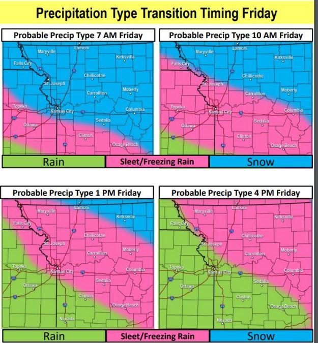 Precipitation Type and timing through 1-17-2020
