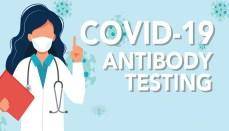 COVID-19 antibody testing graphic