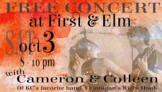 Cam and Colleen Free Concert Graphic