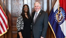 Mike Parson and Robin Ransom