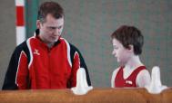 Finn Buchmann und Trainer