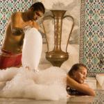 Relaxing massage at the traditional Turkish bath Hamam