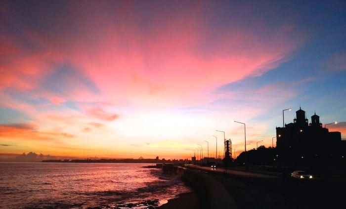 Sonnenuntergang am Malecón, Hotel Nacional