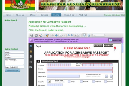 Free Application Forms Order Passport Renewal Form Application Forms