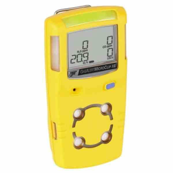 BW Technologies GasAlert MicroClip XL [MCXL-X0HM-Y-NA] Multi-Gas Detector Three Gas Detector, Oxygen, Hydrogen Sulfide, Carbon Monoxide (O2, H2S, CO)