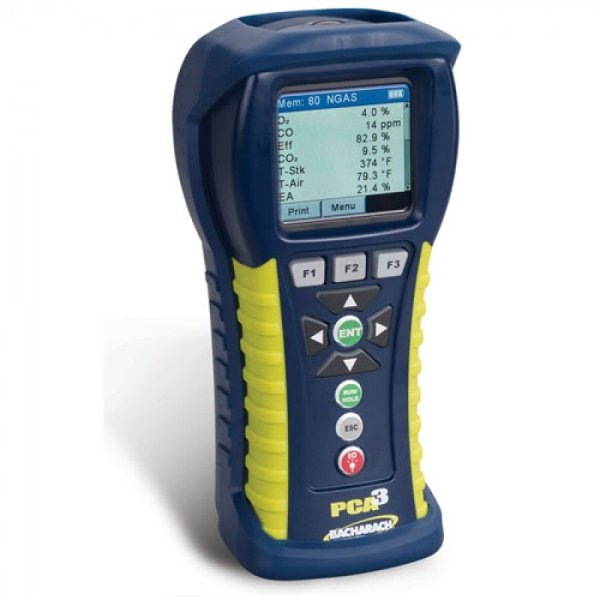 Bacharach PCA3 285 [0024-8453] Portable Combustion Analyzer With O2, CO Low-Range, CO High-Range, NO And Reporting Kit