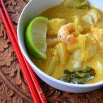 Curry z krewetkami,rybą i ananasem. Formuła I Malezji!
