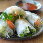 Spring rolls z jajkiem i krewetkami.List do Basi