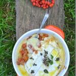 Jarzębina karmelizowana,lebiodka i pieczony camembert. Sezonowo od A do M