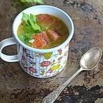 Zupa z wędzonym pstrągiem.  Hello…
