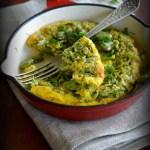 Omlet pieczony z bobem i ziołami. Z pola prosto na śniadanie!