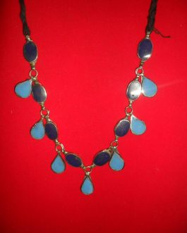 Kuchi necklace with two gemstones