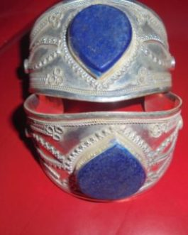 Heart Shape Lapis Cuff