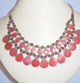 Double Line Coral Necklace