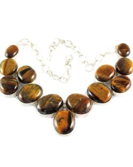 Mountain Queen Tiger Eye Stone Necklace-IN