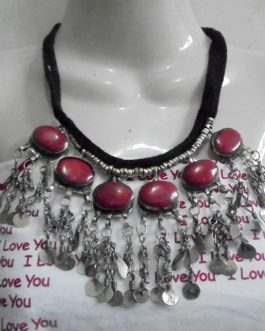 Kuchi Necklace Coral