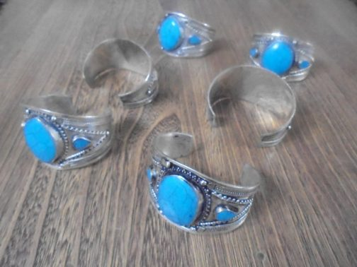 Vintage Turquoise Tribal Cuff