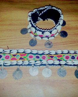 Tribal Coins Anklet Pair With Shell