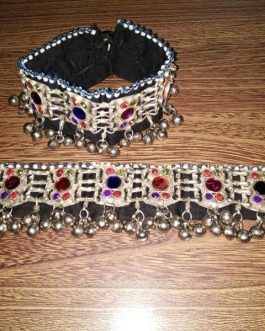 Tribal Round Crystal beads Adjustable Anklet Pair