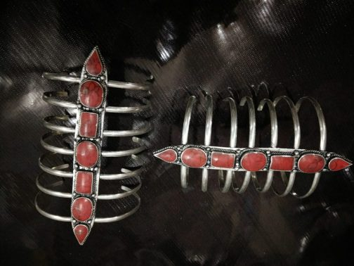 Scorpion Coral Tribal Cuff