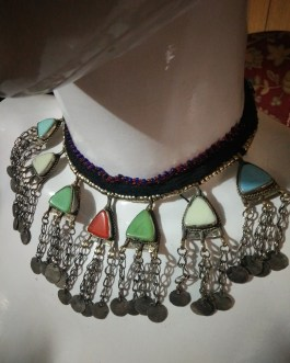 Multi Coloured Pendant Chokar