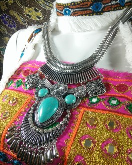 Turkish Chokar With Turquoise Stone