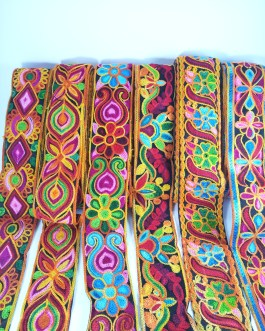 Multi color Mix Design Wool Trim (7.8mtr)