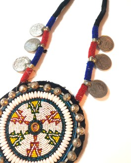 Big Round Tikka Coins Necklace