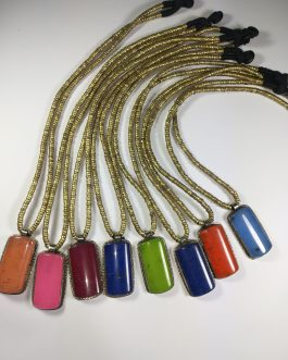 Synthetic Multi Colour Stone Necklace-1