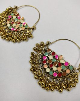 Multi Colour Ear Ring-1