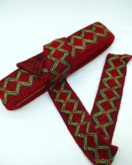 Red Thread Wool Trim 9mtr