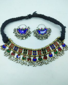 Bridal Choker With Ear Rings