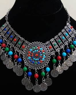 Multi Hanging Beads Necklace 2