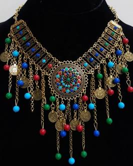 Multi Hanging Beads Necklace 1