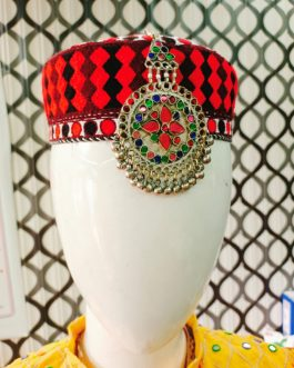 Afghani Cultural Cap with Pendant